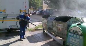 С био препарат мият контейнерите в Русе