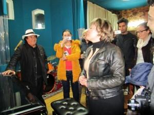 Русенското сопрано Кита Бончева, която от години живее в Брюксел,  пя с Ал Бано в имението му Челини Сан Марко в Италия.