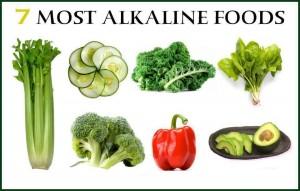 Седемте най-алкални храни.