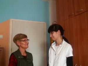 Божена и медицинската сестра на розовата къща Йовка Стойчева
