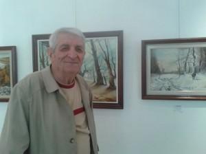Юбилейната изложба на офицера Стефан Ганев.