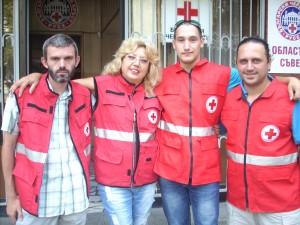 Павлин Петров, Йорданка Тодорова, Радослав Дудев, Иво Минчев са част от русенските доброволци, които са били в Мизия.