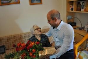 Кметът на Русе Пламен Стоилов поздрави баба Иванка Иванчева, която на днешния 25 август навърши 100 години.