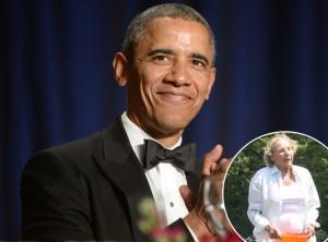 86–годишната Етел, вдовицата на Робърт Кенеди, участва с цялото семейство Кенеди в предизвикателството и предизвика президента Обама.