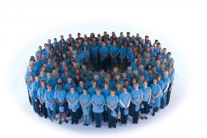 """""""Синият кръг"""", който е символът на борбата с диабета."""
