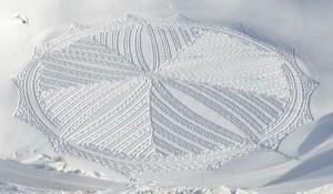 Снежната геометрия е изкуство