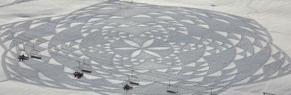 Photo of Британец рисува снежни картини върху огромни площи
