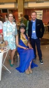 """Най- красивата омъжена българка """"Мисис България Европа 2014"""" Пламена Червенкова беше част от Международното изложение """"Здраве, щастие, красота""""."""