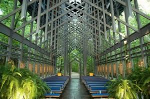 Стъклената църква отвътре