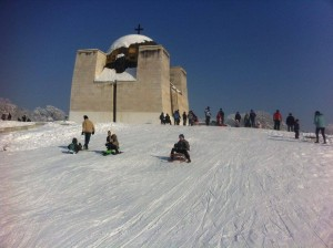 Писта за ски и шейни се обособи в центъра на Русе