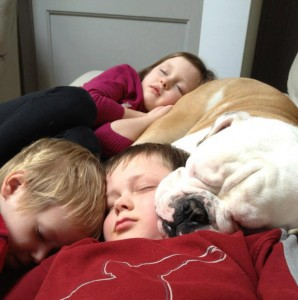 След дълги разходки и игри, сладко се спи