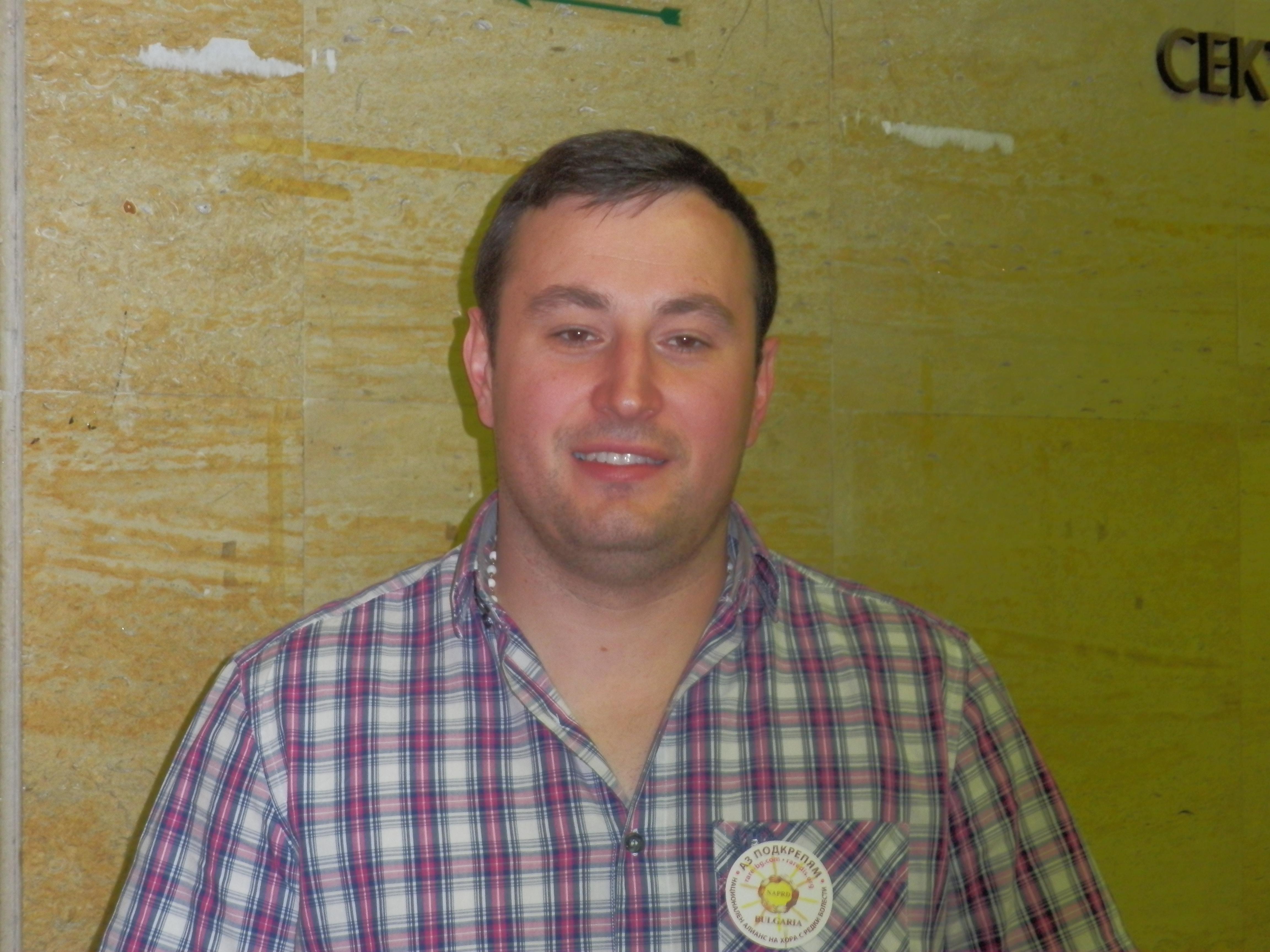 Цветомир Цветков - председател на Българска асоциация на хората с коагулопатии.