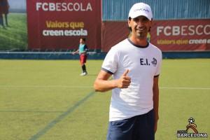 Емил Иванов на базата в Барселона