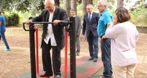 Фитнес на открито ползват хора с увреждания в Борово
