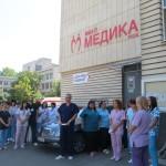 Екипът на МБАЛ Медика – Русе почете паметта на загиналите си колеги