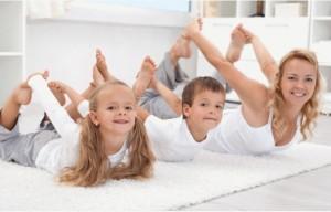 Йога за деца и родители.