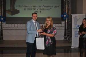 Зам.-кметът д-р Стархил Карапчански връчи наградите на отличените педагози
