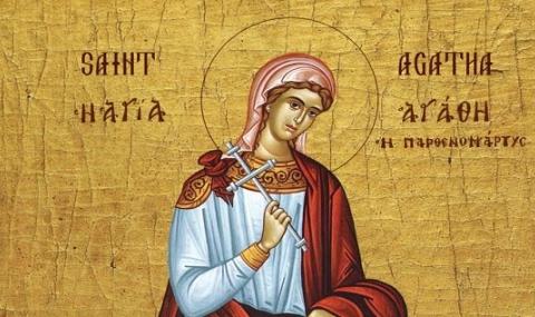 """Photo of Днес почитаме Света Агатия, празнуват всички с """"добри"""" имена"""