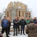 Пламен Нунев инспектира строежа на нов храм в Бяла