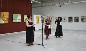 Словото на съпругата по повод юбилейната изложба на художника разтърси публиката в залата