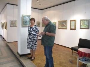 Момент от откриването на изложбата на Станчо Станчев