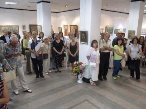 """Откриването на изложбата в малката зала на """"Борисова"""""""