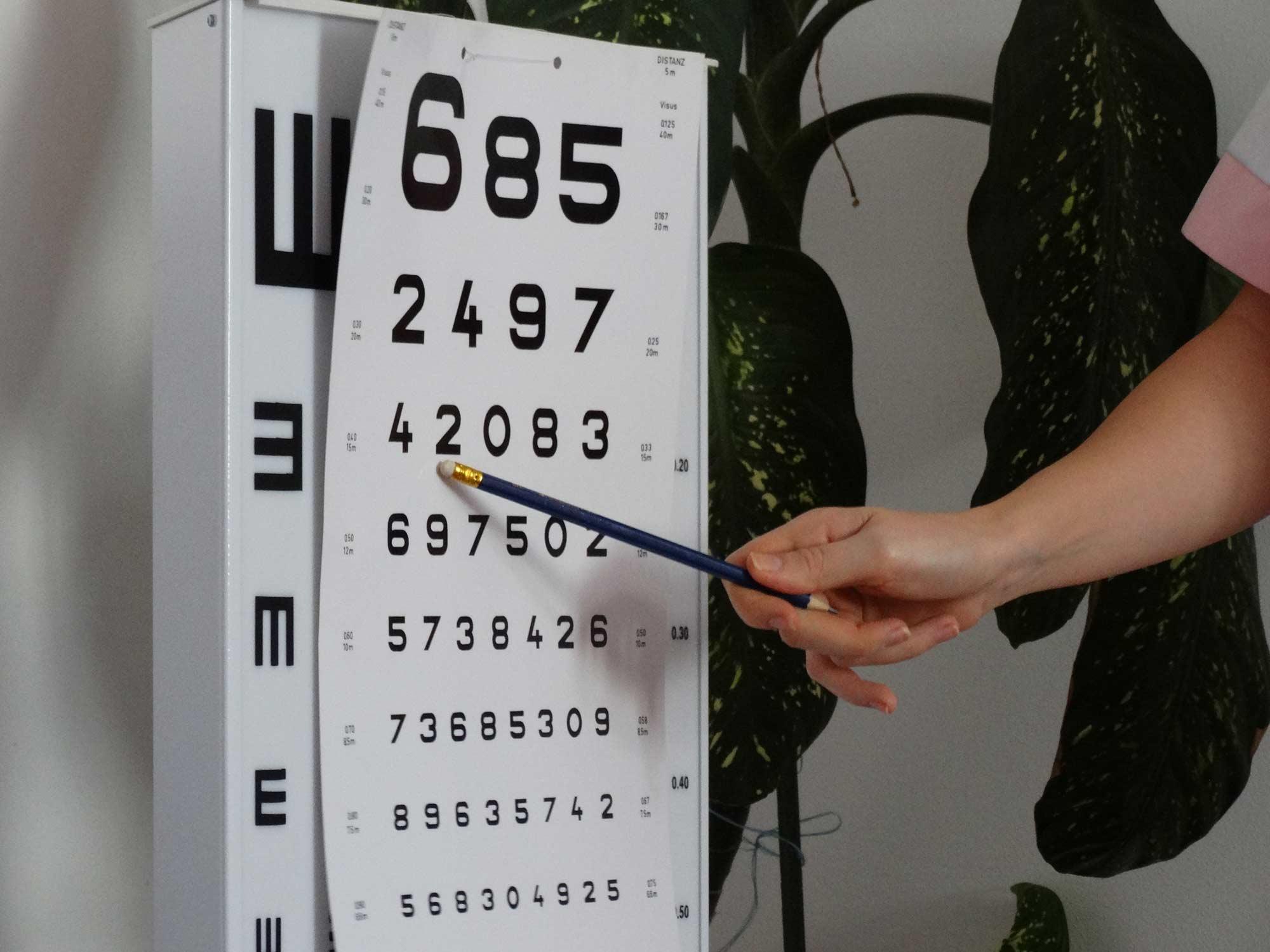 Д-р Наталия Главанова и д -р Луиз Панайотова тестваха зрителната острота на учениците