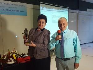 Директорът на РЗИ Русе д-р Маргарита Николова стана носител на наградата Лекар на годината по превантивна медицина, която й бе връчена по време на IX Национална конференция по превантивна медицина