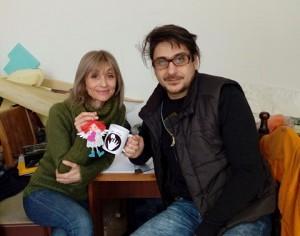 Таня и Георги Пасеви се чувстват на мястото си в ателието на кукления театър