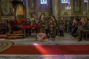 """Деца от Неделното училище към катедралния храм """"Света Троица"""" представиха своя версия на библейската притча за блудния син."""