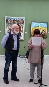 Ради Неделчев по време на откриването на юбилейната изложба