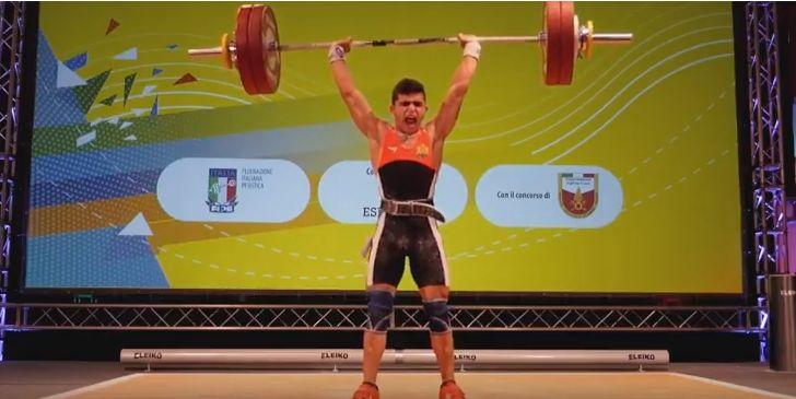 Ангел Русев - европейски шампион по вдигане на тежести