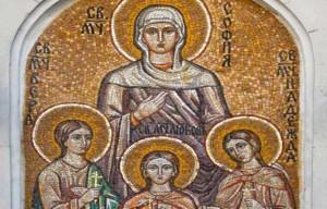 Преданието разказва, че през втората половина на І век в Рим е живяла благочестива жена, християнка, която се казвала София.