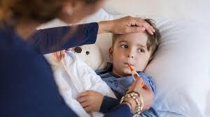 Тъй като специфичните симптоми са болки в главата и ушите, децата се опитват да пипнат или да дръпнат ухото си.